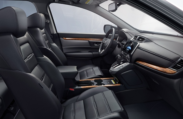Interior front of a 2020 Honda CR-V.