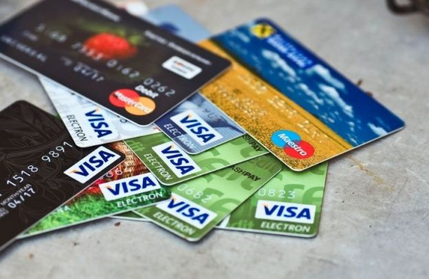 A pile of credit cards