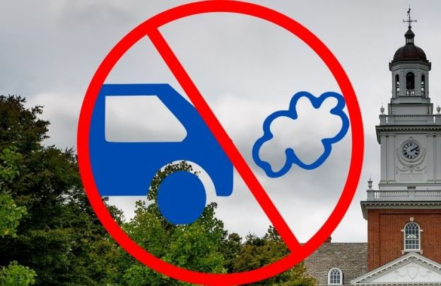 Vehicle emissions banned against a Maryland sky